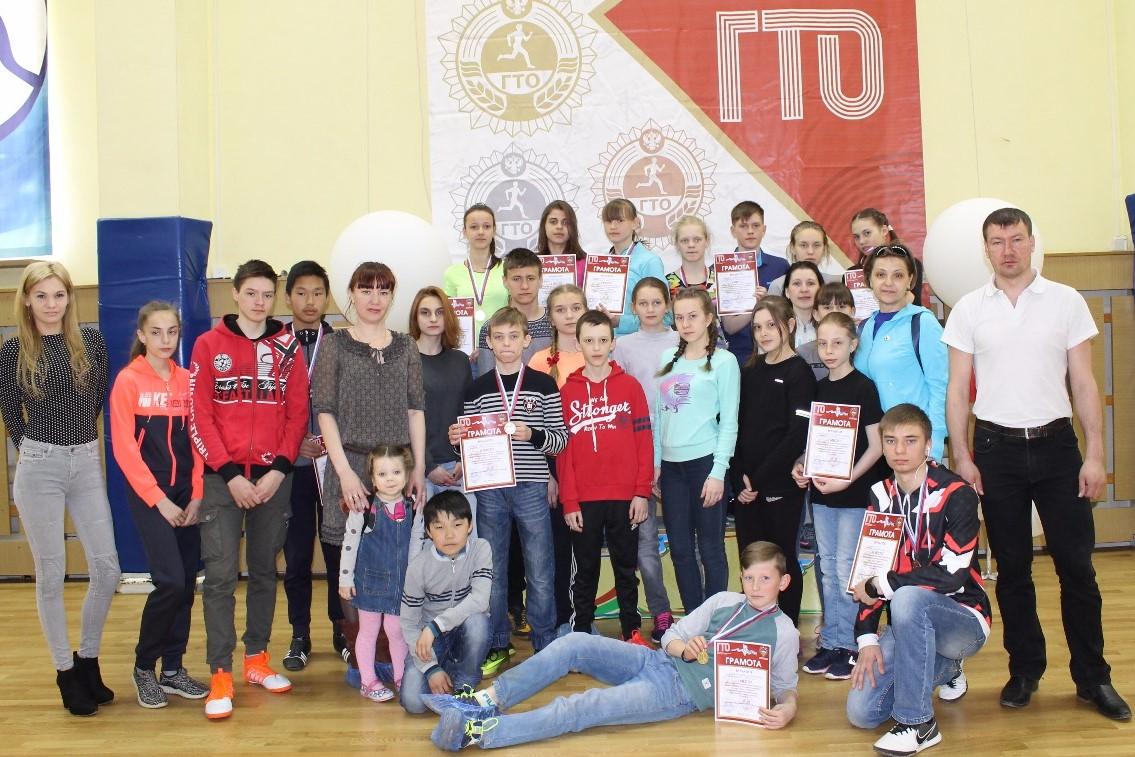 Школьники сдают нормативы ГТО