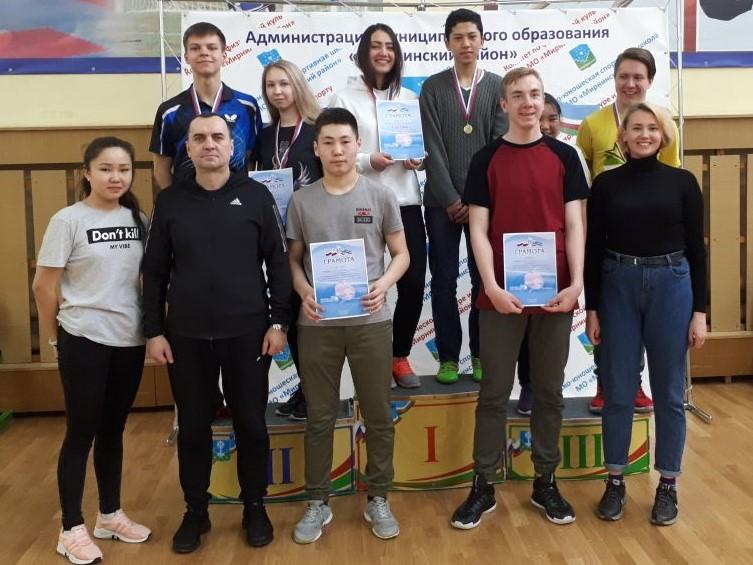 Соревнования по настольному теннису в зачет Спартакиады школьников